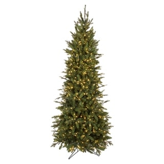 Forever Tree 7.5' Slim Canadian Balsam Fir Power Pole with Remote