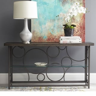 Jean Mixed Media Console Table
