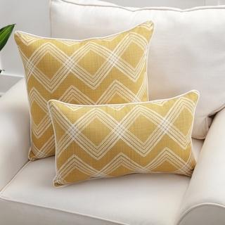 Pillow Perfect Colton Tuscan Yellow Throw Pillow