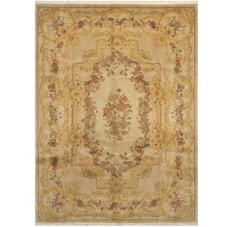 Handmade One-of-a-Kind Aubusson Wool Rug (India) - 8'7 x 11'6