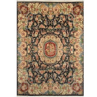 Handmade One-of-a-Kind Aubusson Wool Rug (India) - 9' x 12'9