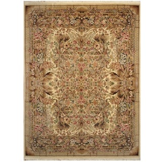 Handmade One-of-a-Kind Kerman Wool Rug (Iran) - 9' x 12'2