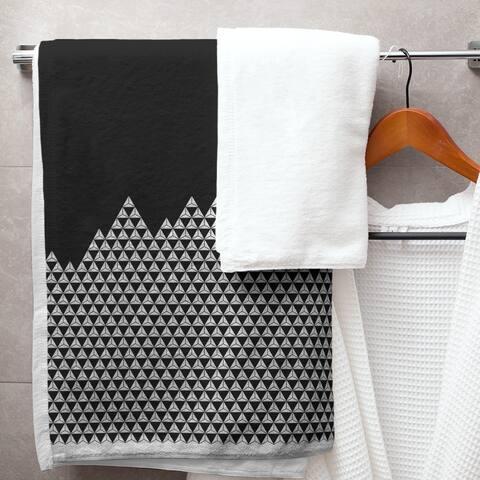 Mountain Pattern Bath Towel - 30 x 60