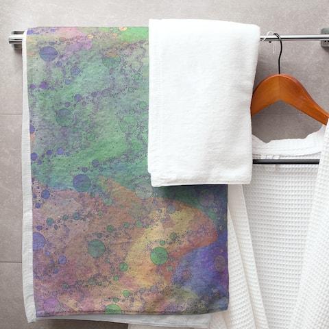 Multicolor Planets & Stars Bath Towel - 30 x 60