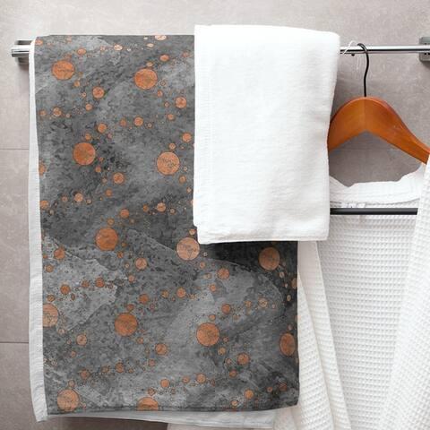 Monochrome Planets & Stars Bath Towel - 30 x 60
