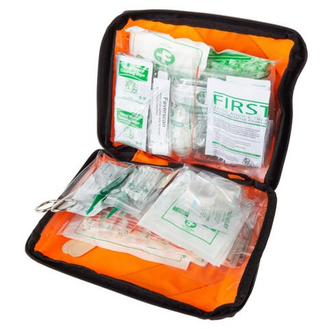 First Aid Kit- 230 Piece Set Emergency Medical Supplies-Safety and Survival Essentials by Wakeman Outdoors - Orange