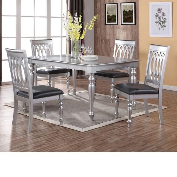 Veronika Silver 5-piece Dining Set