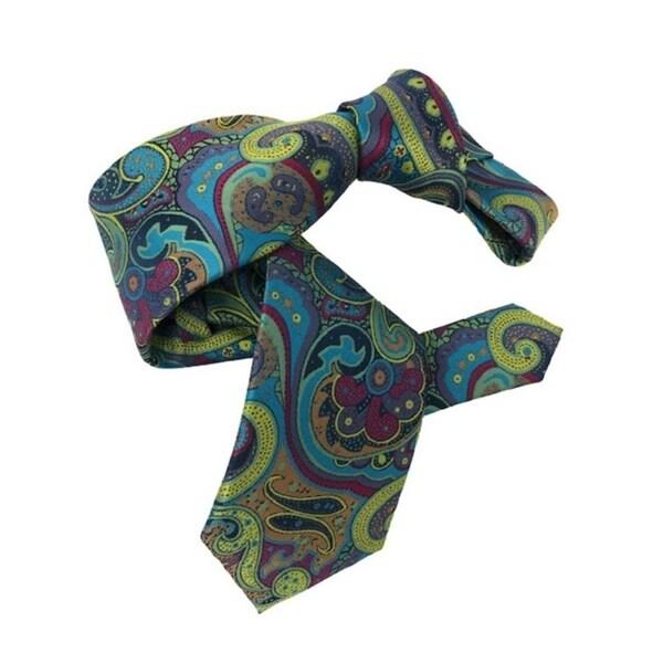 DMITRY 7-Fold Multi Colored Paisley Italian Silk Tie