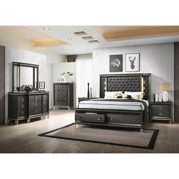 Best Quality Furniture Bellagio 5-Piece Bedroom Set