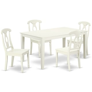 Rectangular 60 Inch Table and 4 Panel Back Chairs (Number of Chairs Option)