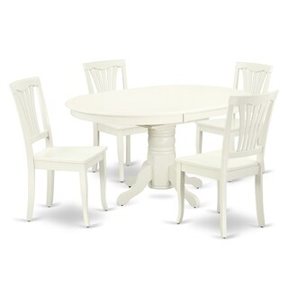 """Oval 42/60 Inch Table with 18"""" Leaf and 4 Vertical Slatted Chairs (Number of Chairs Option)"""