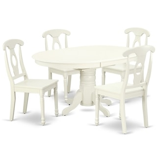 """Oval 42/60 Inch Table with 18"""" Leaf and 4 Panel Back Chairs (Number of Chairs Option)"""