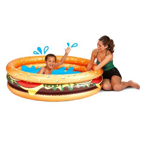 BigMouth Inc Inflatable Hamburger Kiddie Pool