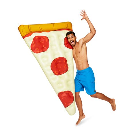 BigMouth Inc Pizza Slice Pool Float, 5-foot Long, Patch Kit Included