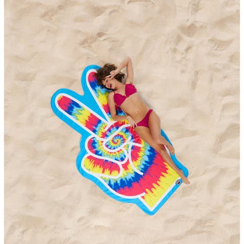 BigMouth Inc. Giant Tie Dye Peace Sign Beach Blanket