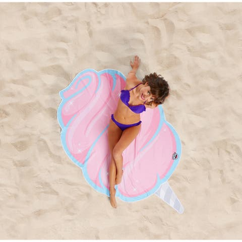 BigMouth Inc. Giant Pink Cotton Candy Beach Blanket