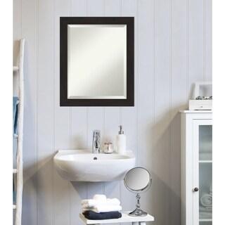 Copper Grove Baroeul Bathroom Vanity Wall Mirror with Espresso Frame