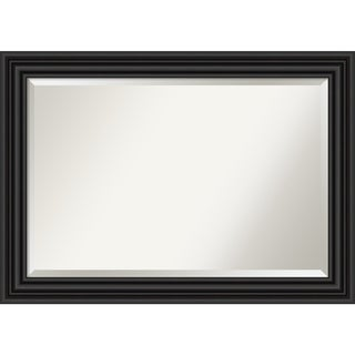 Link to Porch & Den Prince Albert Black Bathroom Vanity Wall Mirror Similar Items in Rectangular Mirrors