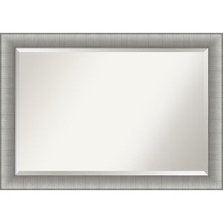Porch & Den Yonia Brushed Pewter Finish Bathroom Vanity Wall Mirror