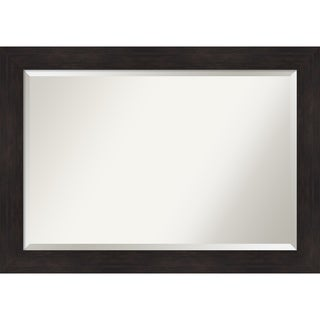 Furniture Espresso Bathroom Vanity Wall Mirror