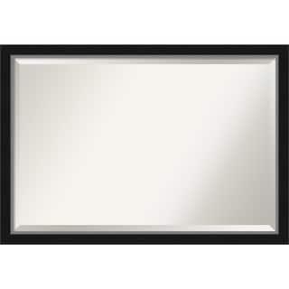 Porch & Den Katherine Black Silver Narrow Bathroom Vanity Wall Mirror