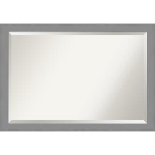 Porch & Den Yoncalla Brushed Nickel Finish Bathroom Vanity Wall Mirror