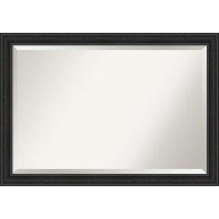 Porch & Den Quint Black Narrow Bathroom Vanity Wall Mirror