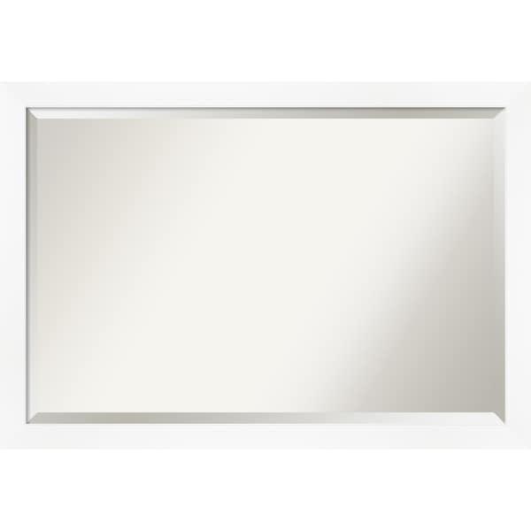 Narrow Bathroom Wall Storage: Shop Cabinet White Narrow Bathroom Vanity Wall Mirror