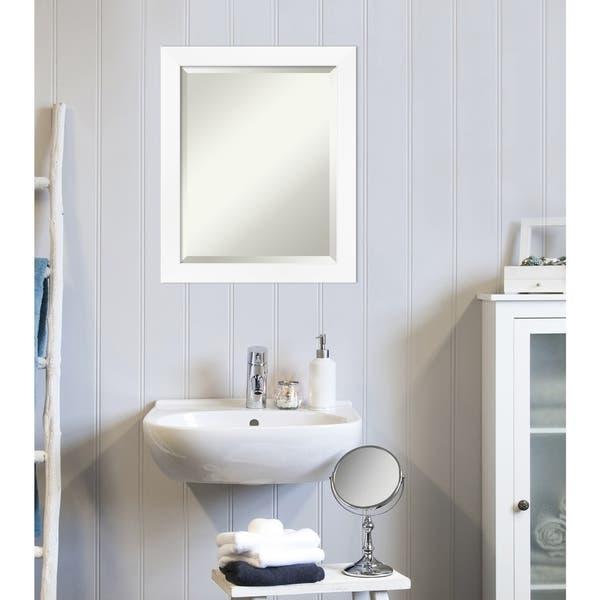 Cabinet White Narrow Bathroom Vanity Wall Mirror Free