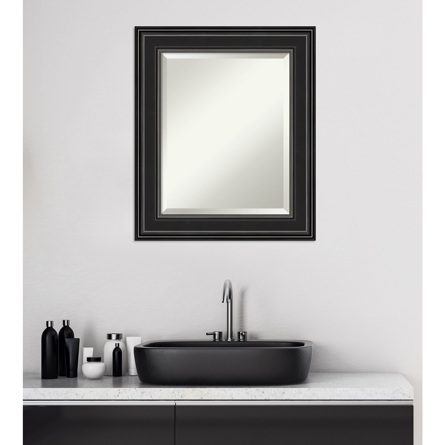 Copper Grove Morsang Bathroom Vanity Wall Mirror With Black Frame