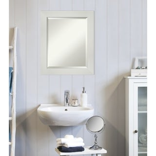 Copper Grove Valette Bathroom Vanity Wall Mirror with White Frame