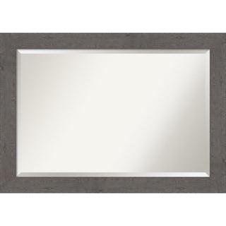 Rustic Plank Grey Bathroom Vanity Wall Mirror