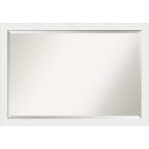 Porch & Den Prince Edward White Bathroom Vanity Wall Mirror