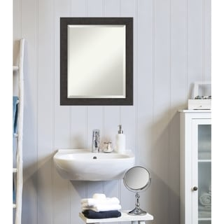 Copper Grove Synthe Bathroom Vanity Wall Mirror with Espresso Frame