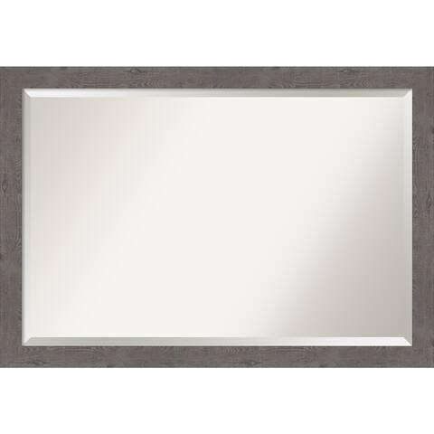 Porch & Den Pennywort Rustic Grey Narrow Vanity Wall Mirror