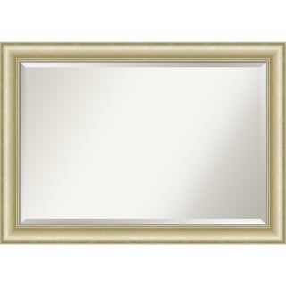 Textured Light Gold Bathroom Vanity Wall Mirror
