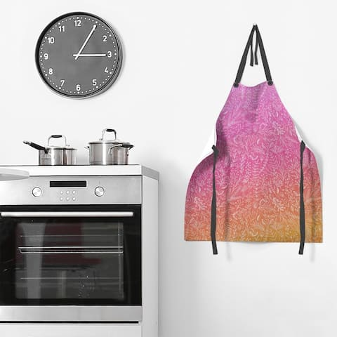 Ombre Ditsy Floral Pattern Apron - 27 x 30