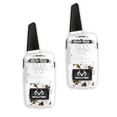 NKOK RealTree 1000-Ft Range Walkie-Talkies Set (Snow)