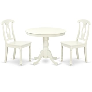 Round 36 Inch Table and 2 Panel Back Chairs (Number of Chairs Option)