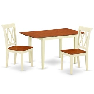 """Rectangular 42/53.5 Inch Table with 12"""" Leaf and 2 Double X Back Chairs (Number of Chairs Option)"""