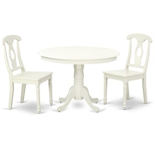 Round 42 Inch Table and 2 Panel Back Chairs (Number of Chairs Option)