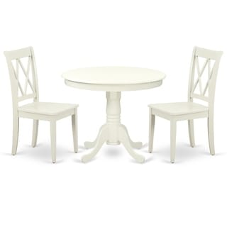 Round 36 Inch Table and 2 Double X Back Chairs (Number of Chairs Option)