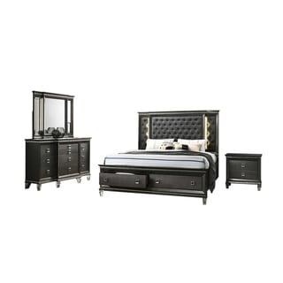Best Quality Furniture Bellagio 4-Piece Bedroom Set