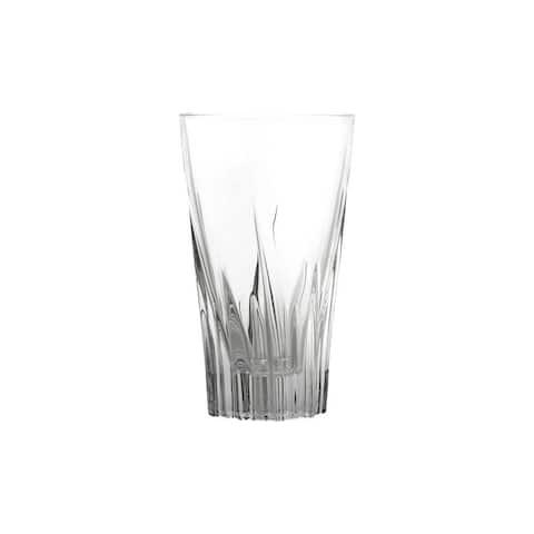 10 Strawberry Street Fluente 12 Oz Highball Crystal Glass, Set of 6