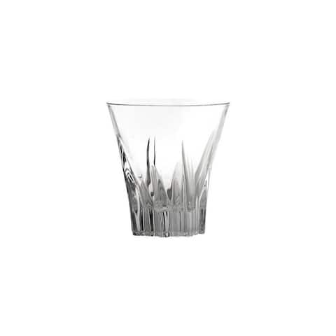 10 Strawberry Street Fluente 8 Oz Double Old Fashion Crystal Glass Tumbler, Set of 6