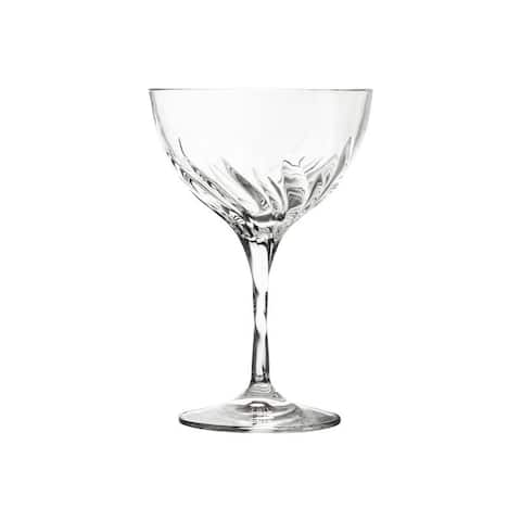 10 Strawberry Street Fluente 10 Oz Coupe Champagne Crystal Glass, Set of 6