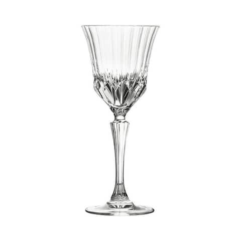 10 Strawberry Street Adagio 6 Oz White Wine Crystal Glass, Set of 6