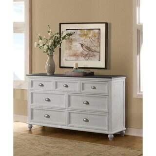 Martin Svensson Home Monterey 7 Drawer Dresser, White and Grey Stain