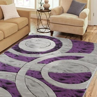 Porch & Den Alderidge Purple/Grey Polyester Area Rug