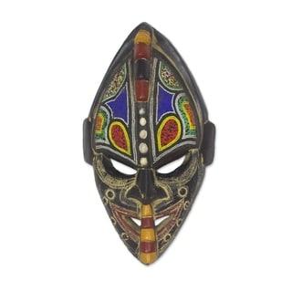 Handmade Thamsanqa Wood Mask (Ghana) - N/A